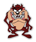 Taz Teeth Out Die Cut Decal